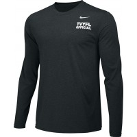 Official 14: Nike Team Legend Long-Sleeve Crew T-Shirt with TVYFL on Front
